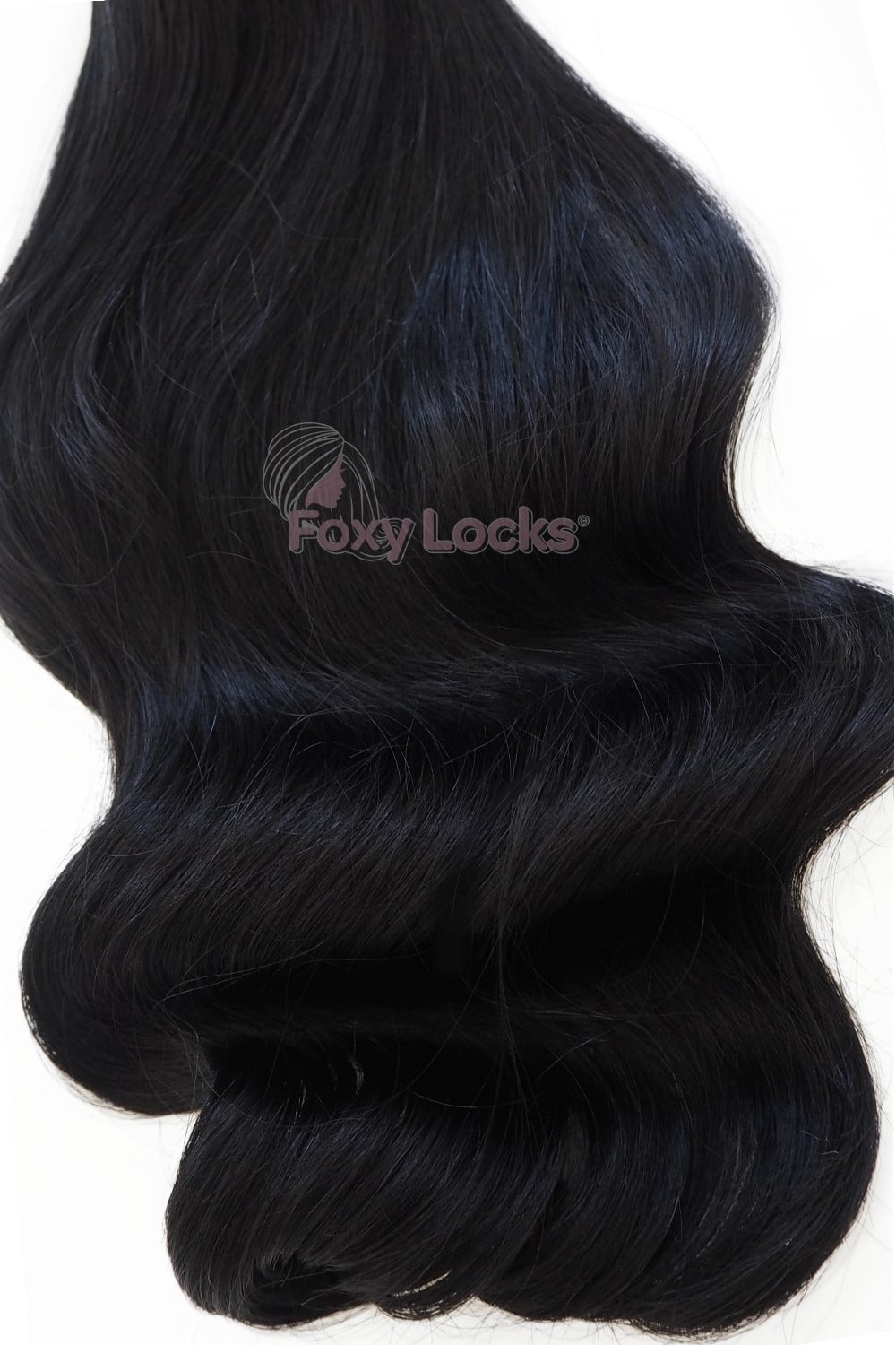 Jet Black 1 Superior 20 Clip In Human Hair Extensions 230g