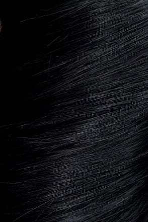 "Jet Black - Volumizer 20"" Seamless Clip In Human Hair Extensions 50g"