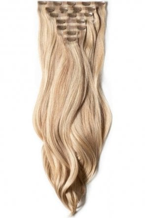 "Latte Blonde - Luxurious 24"" Seamless Clip In Human Hair Extensions 280g"