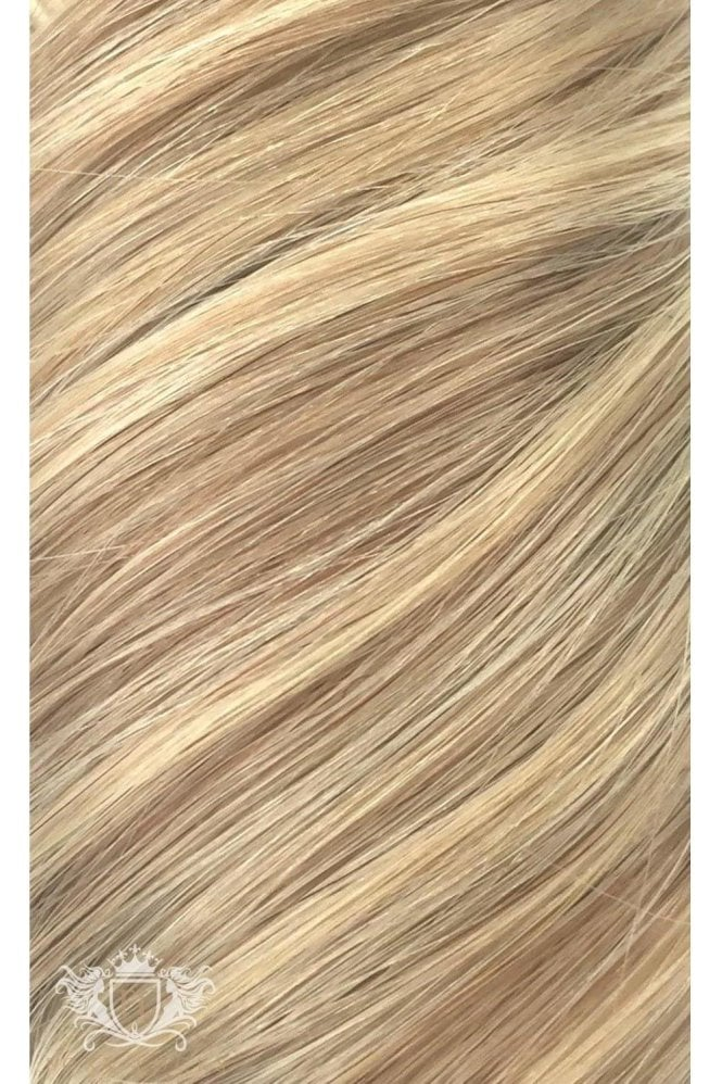 "Latte Blonde - Regular Seamless 18"" Clip In Human Hair Extensions 125g"