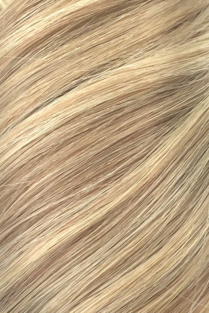 "Latte Blonde - Volumizer 20"" Seamless Clip In Human Hair Extensions 50g"