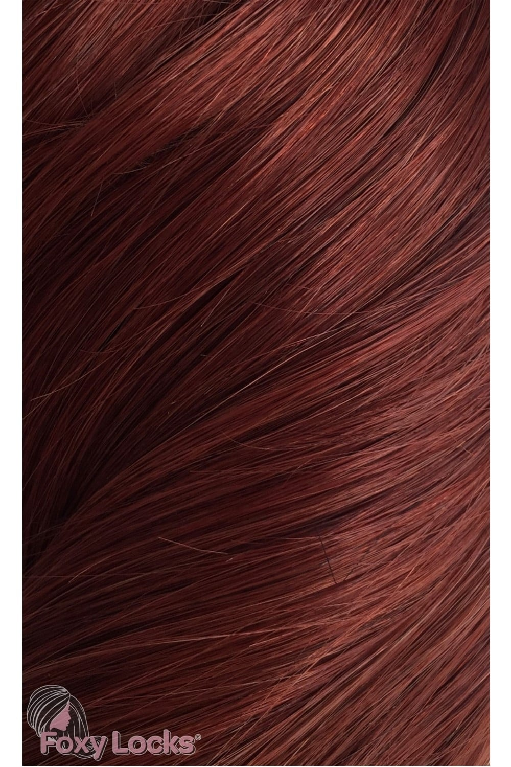 Mahogany Red 33 Deluxe 20 Clip In Human Hair Extensions 165g