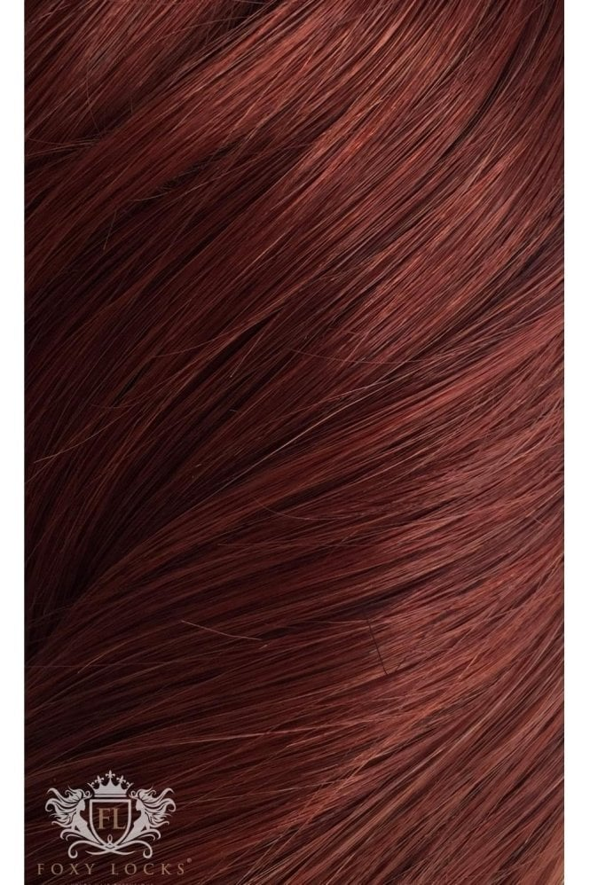 "Mahogany - Deluxe 20"" Seamless Clip In Human Hair Extensions 165g"