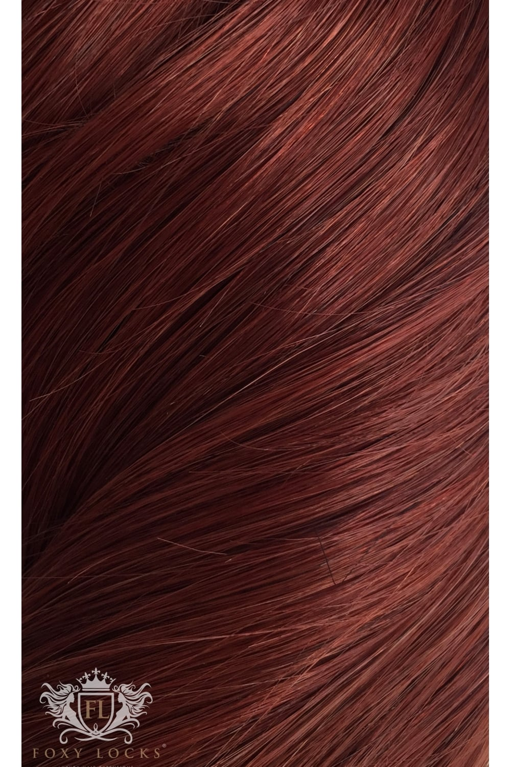 Mahogany Red 33 Regular Clip In Human Hair Extensions 125g