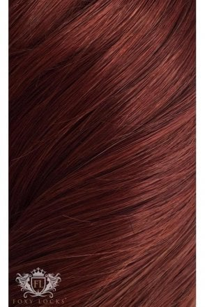 "Mahogany - Regular Seamless 18"" Clip In Human Hair Extensions 125g"