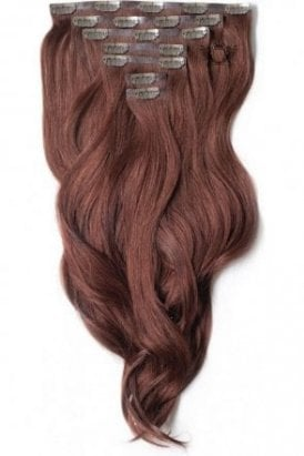 "Mahogany - Superior 22"" Seamless Clip In Human Hair Extensions 230g"