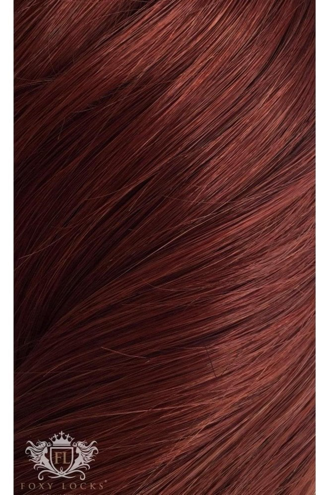 "Mahogany - Volumizer 20"" Seamless Clip In Human Hair Extensions 50g"