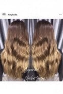 "Mocha Toffee Ombre - Luxurious 24"" Seamless Clip In Human Hair Extensions 280g"