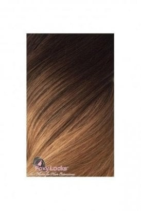 """Mocha Toffee Ombre - Regular 18"""" Clip In Human Hair Extensions 125g"""
