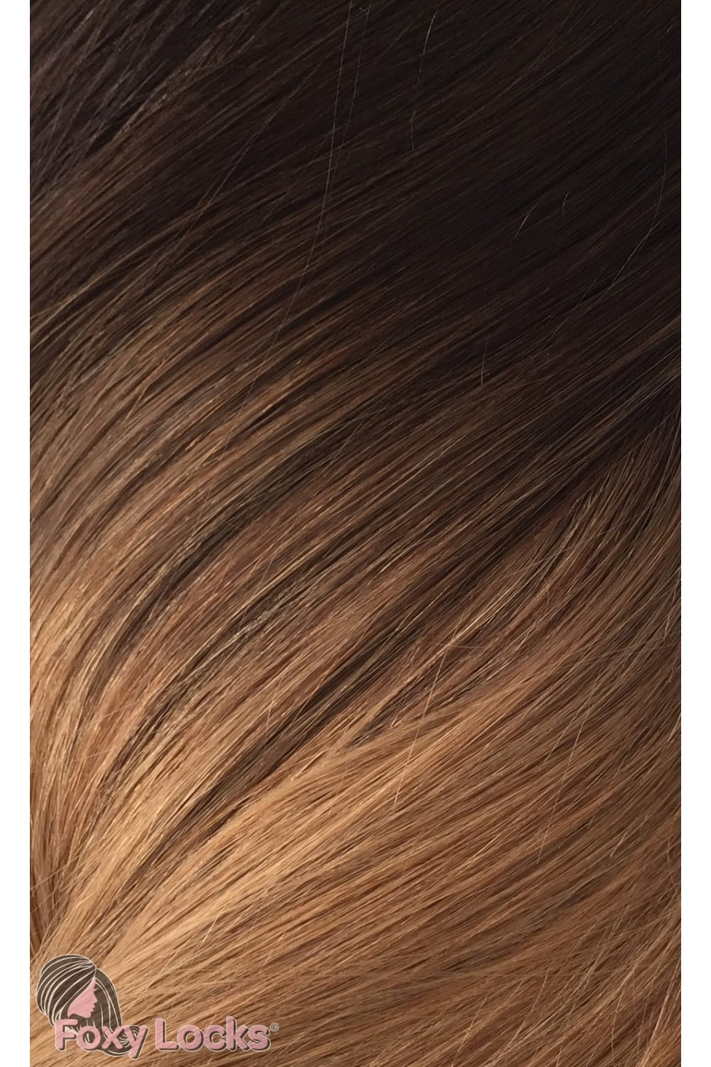 Mocha Toffee Ombre Regular Seamless Clipin Human Hair Extensions 125g