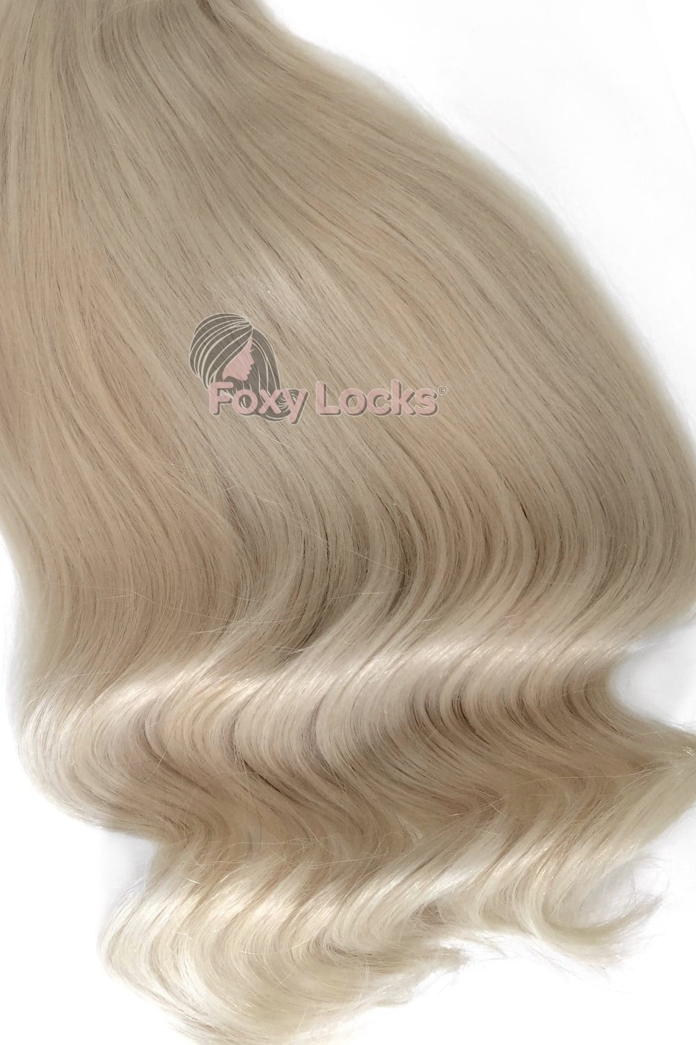 Platinum Blonde 90 Deluxe 20 Clip In Human Hair Extensions 165g
