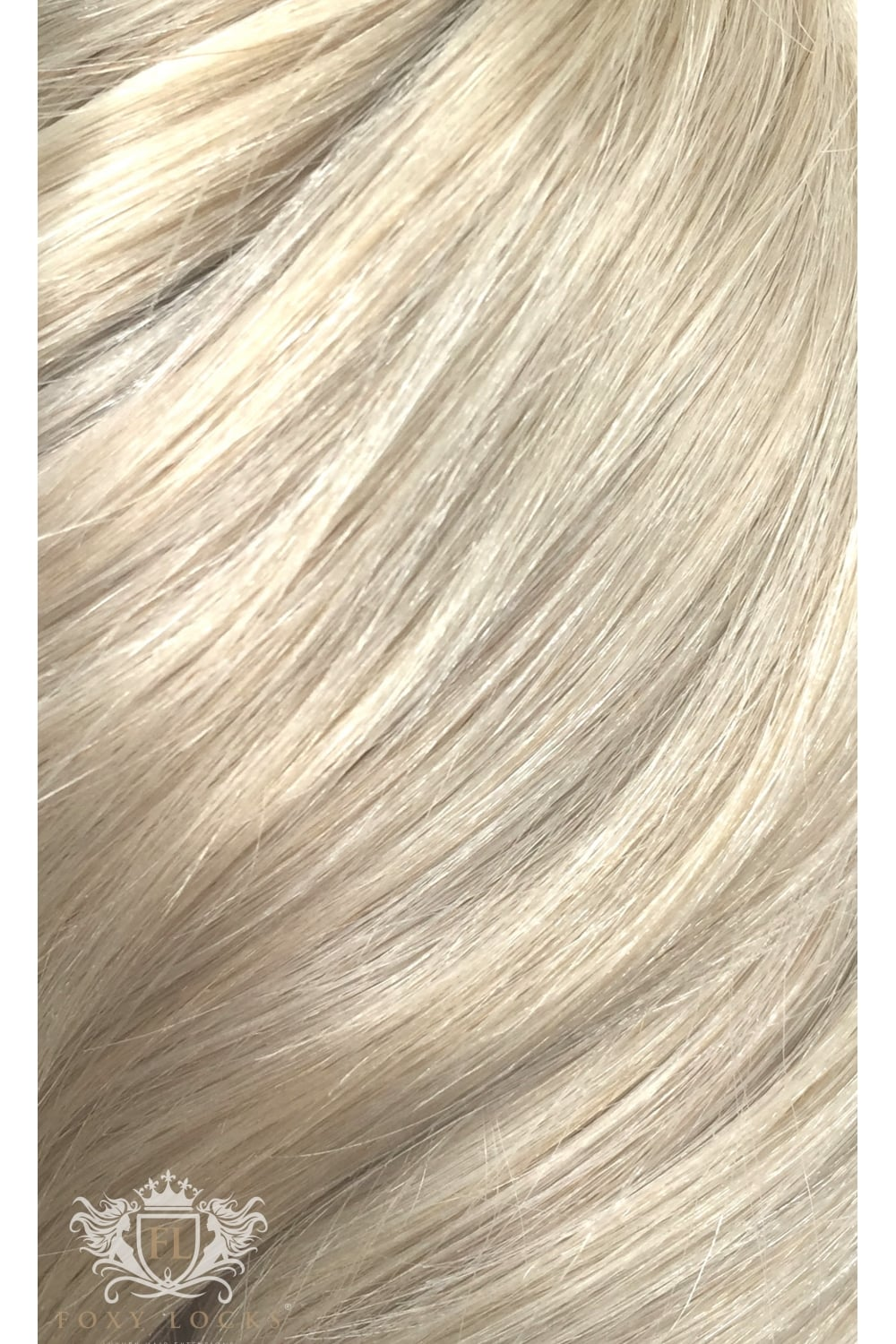 Platinum Blonde Seamless Deluxe 20 Clip In Human Hair Extensions
