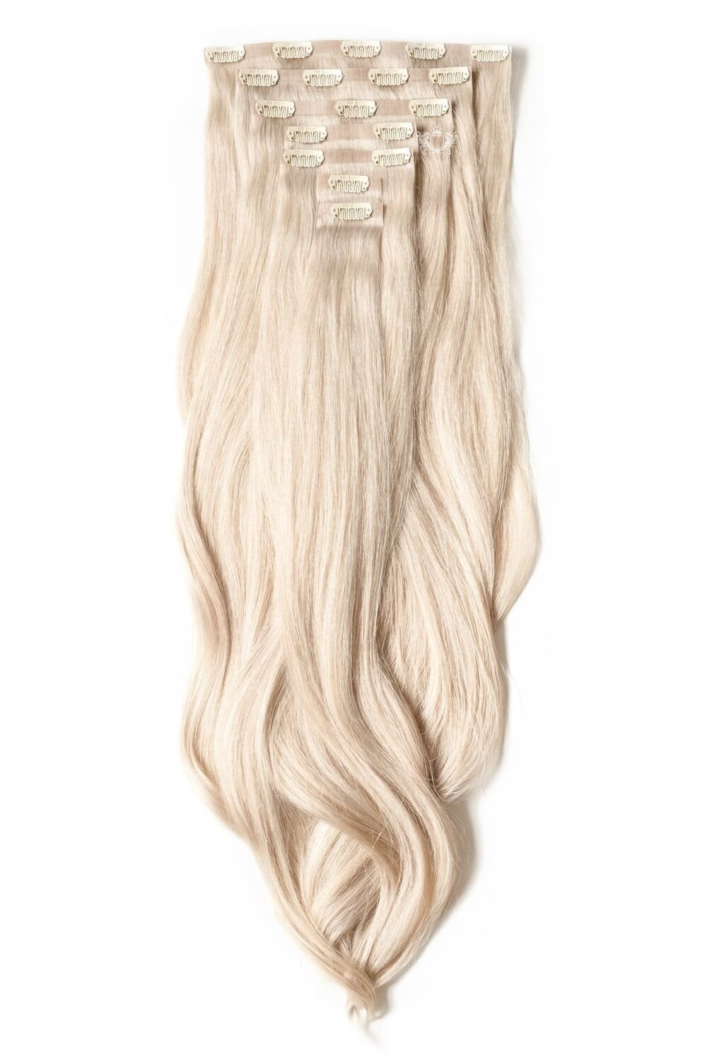 Platinum Luxurious Seamless 24 Quot Clip In Human Hair