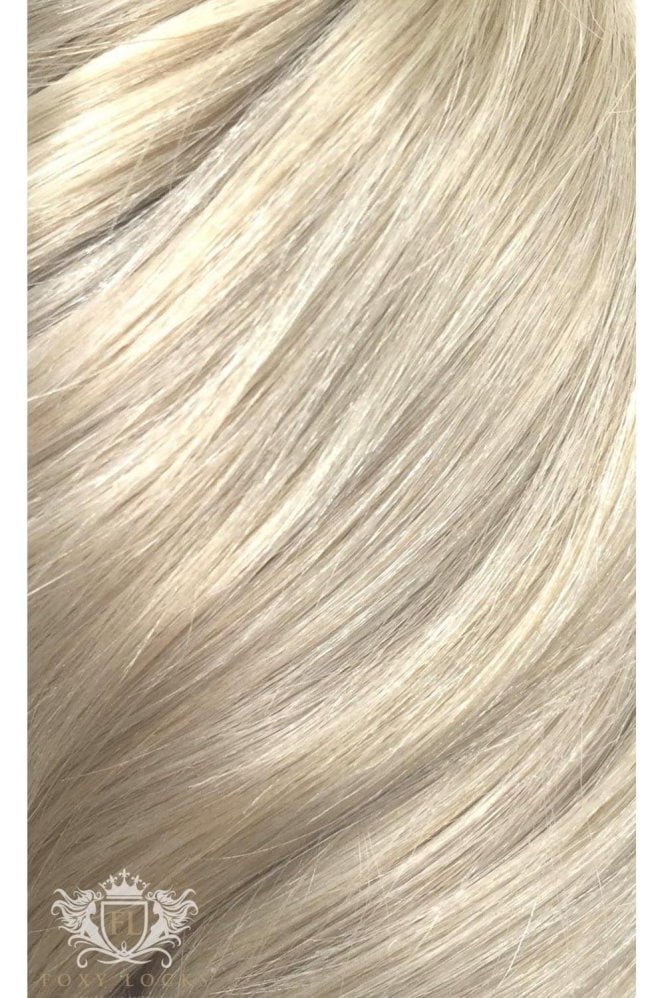 "Platinum Blonde - Volumizer 20"" Seamless Clip In Human Hair Extensions 50g"