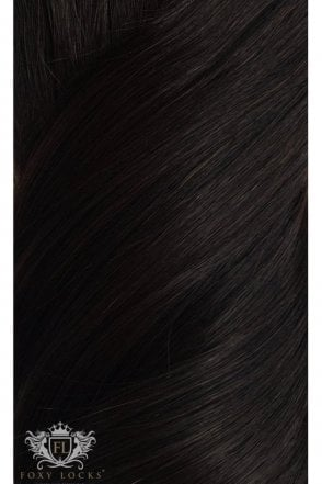 "[PRE ORDER] Brown Black - Deluxe 20"" Seamless Clip In Human Hair Extensions 165g"
