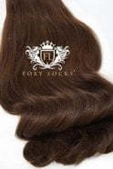 "Chocolate - Luxurious 24"" Seamless Clip In Human Hair Extensions 280g"