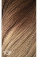 """Honey Spice Ombre - Deluxe 20"""" Seamless Clip In Human Hair Extensions 165g"""