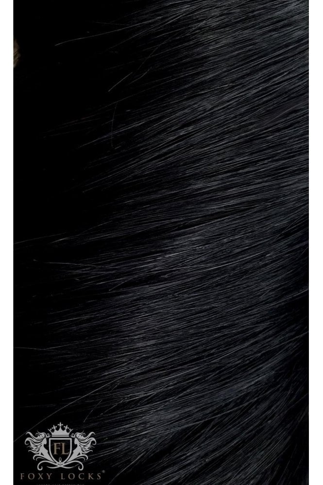 """Jet Black - Deluxe 20"""" Seamless Clip In Human Hair Extensions 165g"""