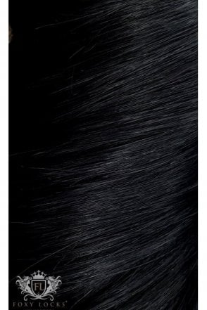 """Jet Black - Luxurious 24"""" Seamless Clip In Human Hair Extensions 280g"""