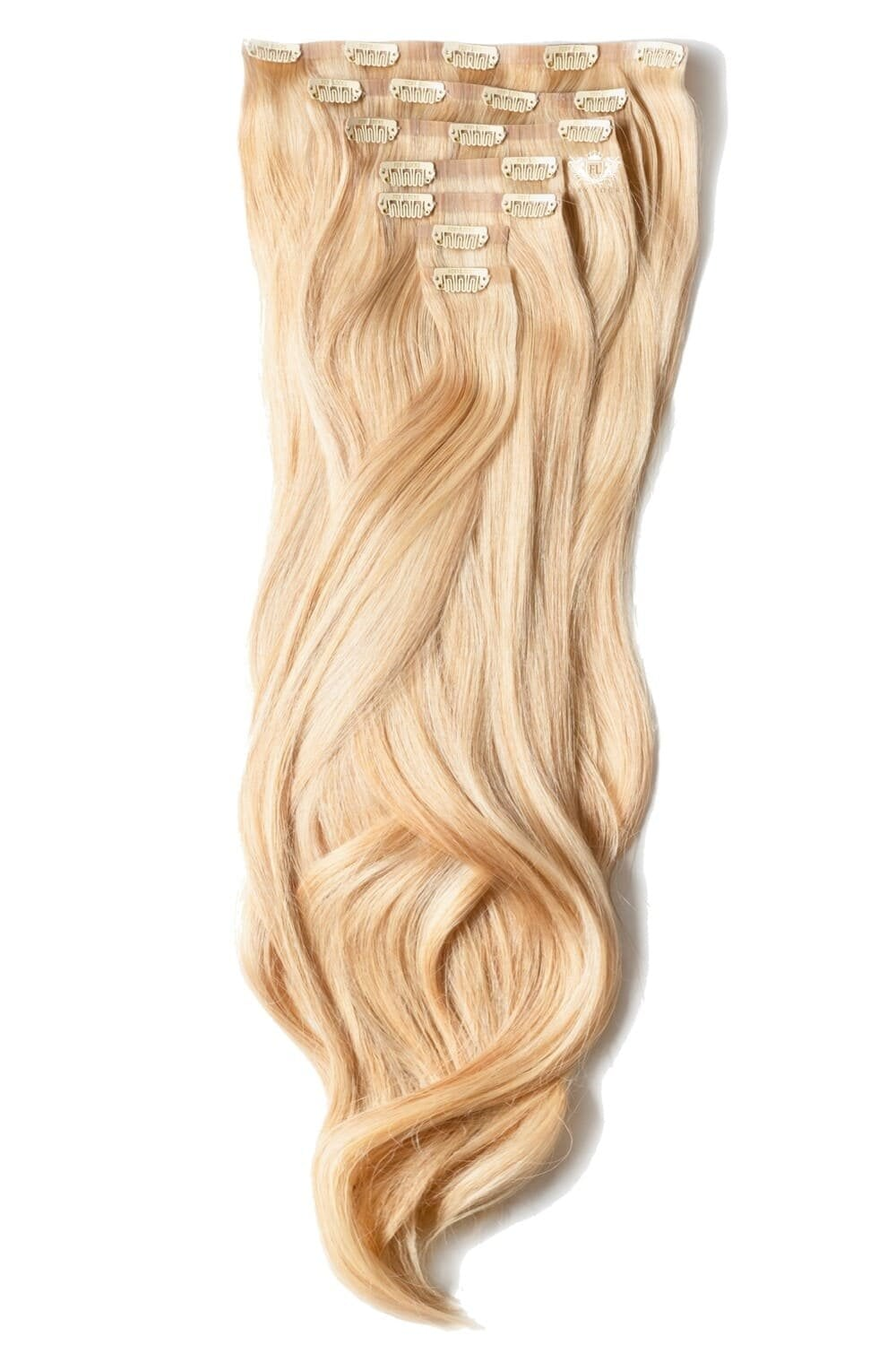 Cinnamon ginger volumizer 20 seamless clip in human hair sandy blonde luxurious 24 seamless clip in human hair extensions 280g pmusecretfo Gallery