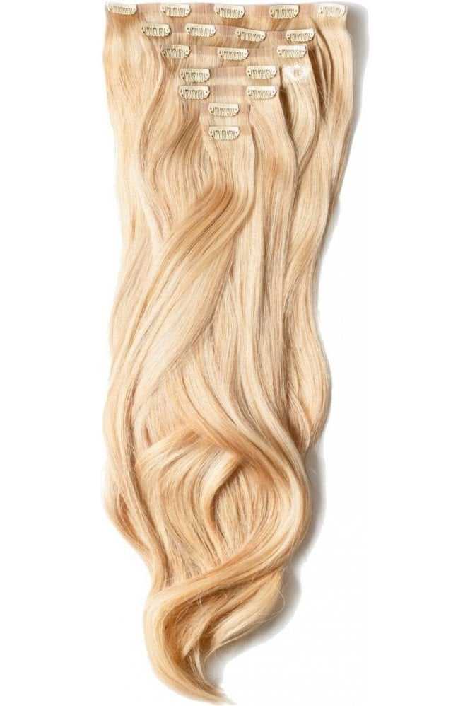 "Sandy Blonde - Luxurious 24"" Seamless Clip In Human Hair Extensions 280g"