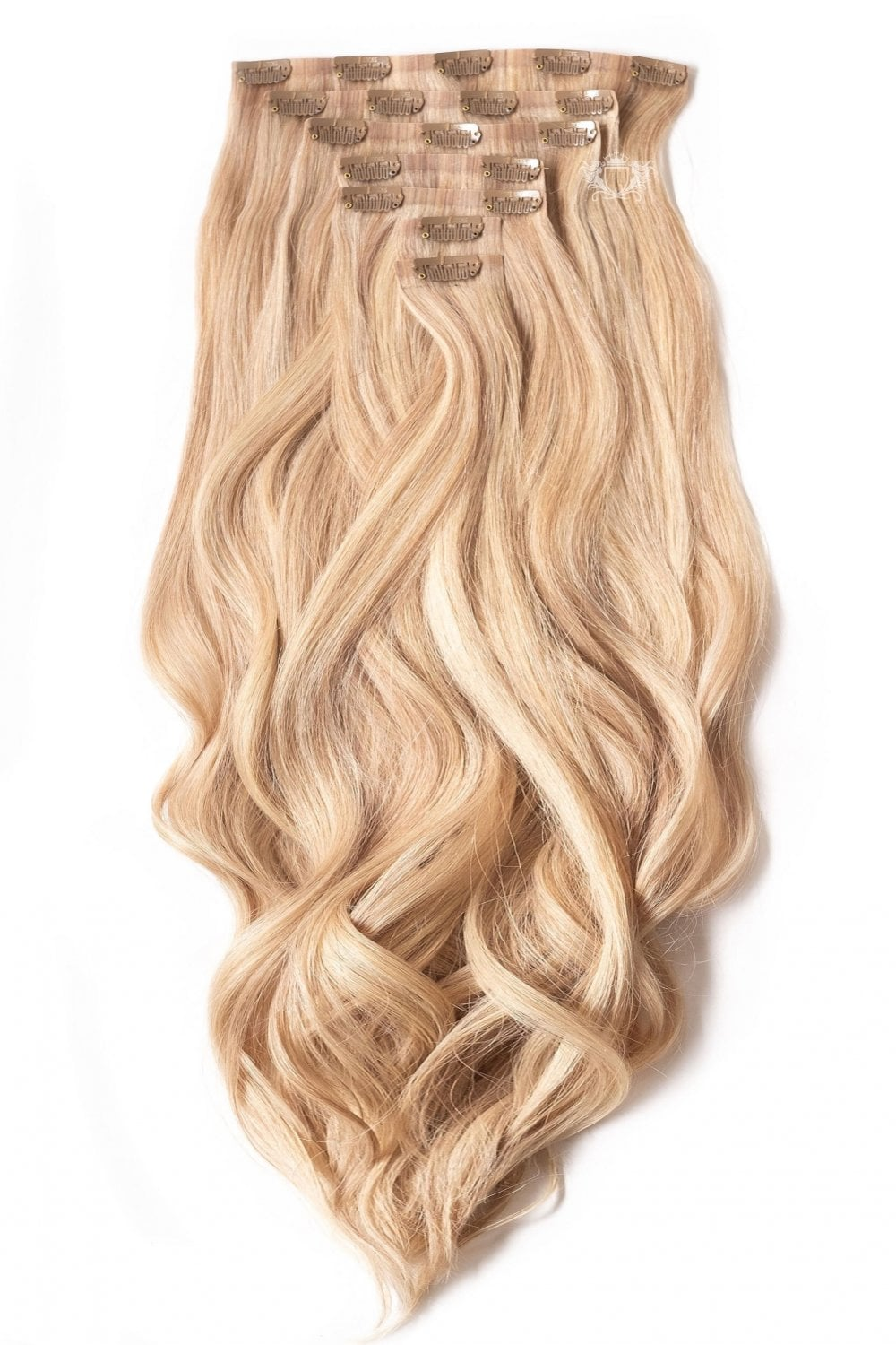 Sandy Blonde Superior Seamless 22 Quot Clip In Human Hair