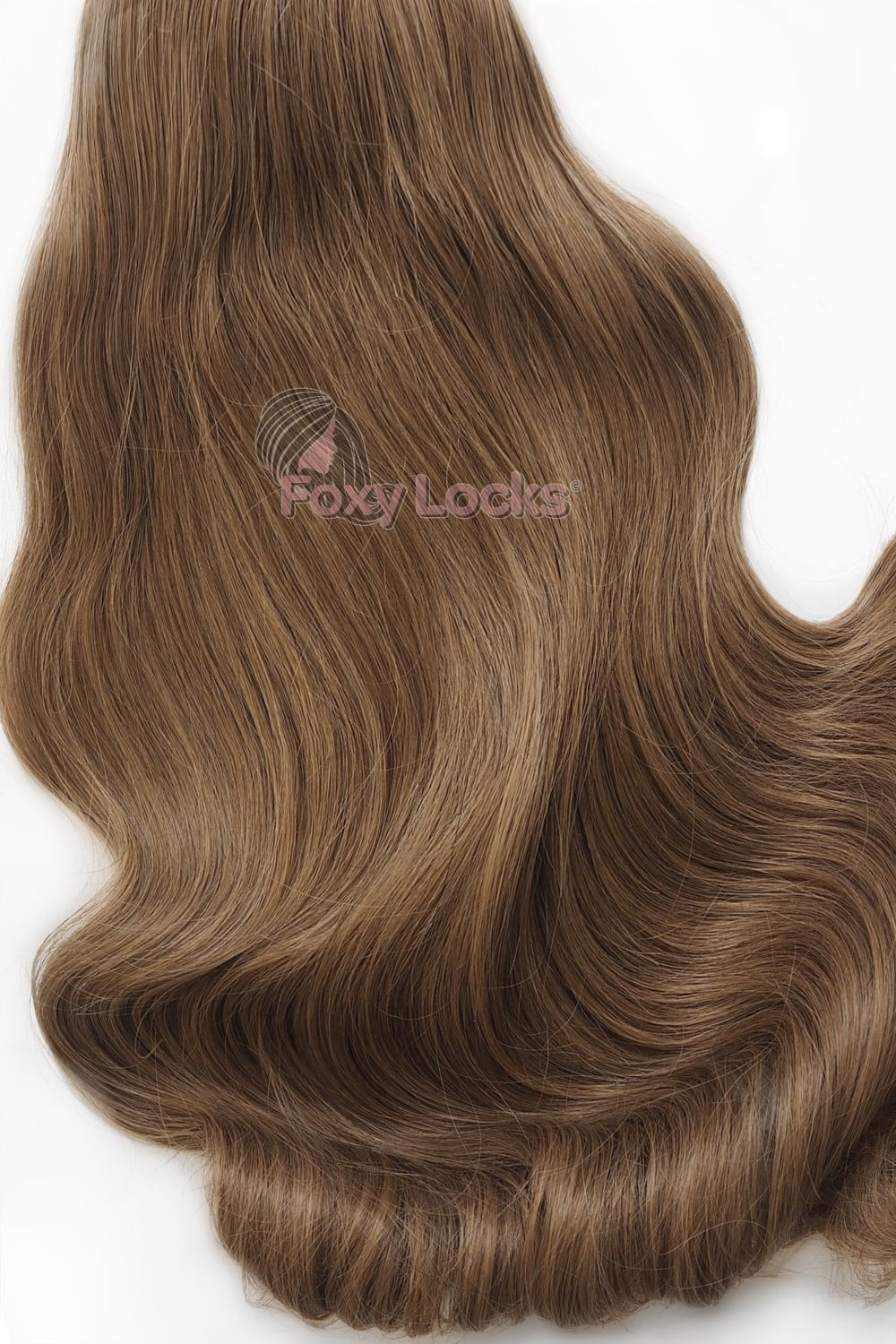 Sunkissed Brown 8 Deluxe 20 Clip In Human Hair Extensions 165g