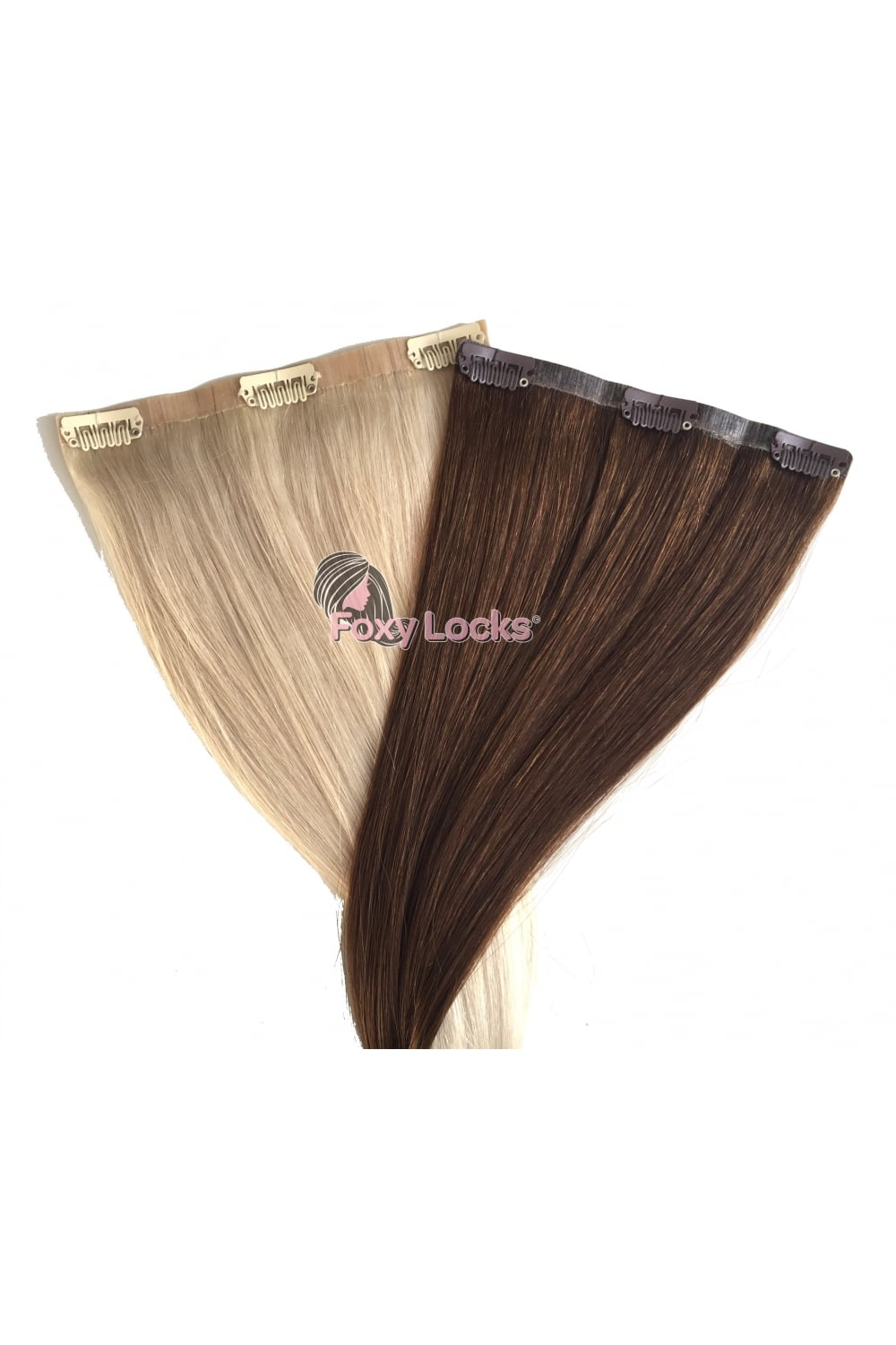 Sunkissed Brown Seamless Deluxe 20 Clip In Human Hair Extensions 165g