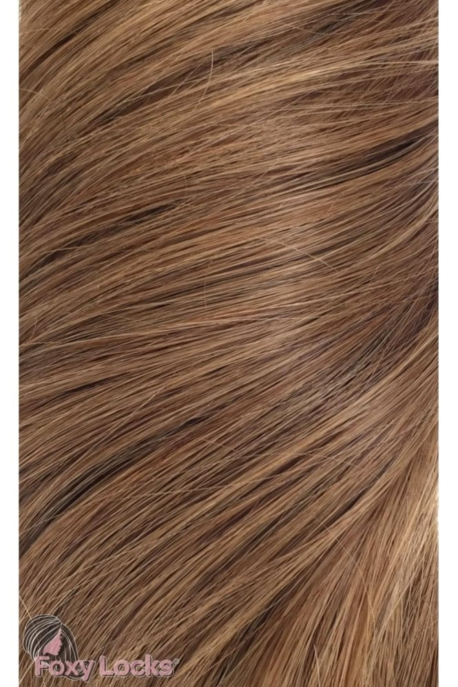 "Sunkissed Brown - Regular 18"" Clip In Human Hair Extensions 125g"