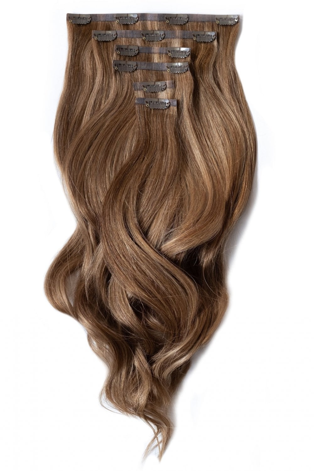 Sunkissed Highlights Seamless Deluxe 20 Clip In Hair Extensions 165g