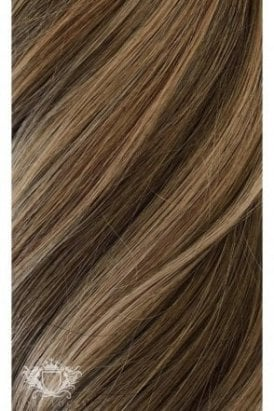 "Sunkissed Highlights - Regular Seamless 18"" Clip In Human Hair Extensions 125g"