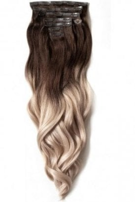 """Vanilla Frappe - Luxurious 24"""" Seamless Clip In Human Hair Extensions 280g"""