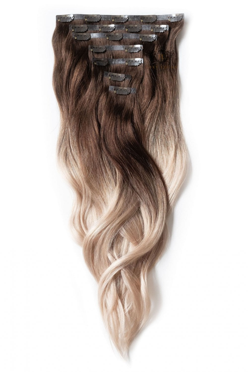 Vanilla Frappe Deluxe 20 Seamless Clip In Human Hair Extensions 165g