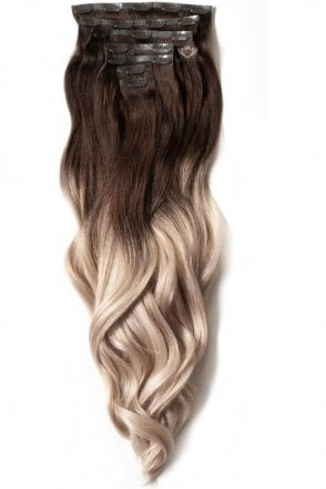 "Vanilla Frappe Ombre - Luxurious 24"" Seamless Clip In Human Hair Extensions 280g"