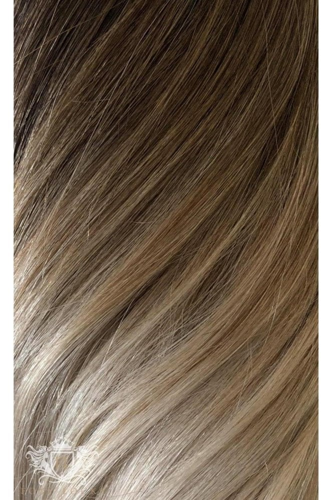 "Vanilla Frappe Ombre - Regular Seamless 18"" Clip In Human Hair Extensions 125g"