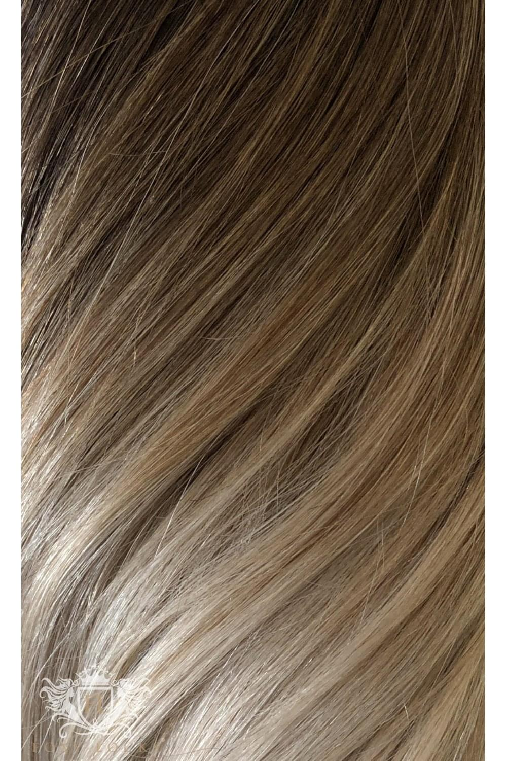 Vanilla Frappe Superior 22 Seamless Clip In Human Hair Extensions