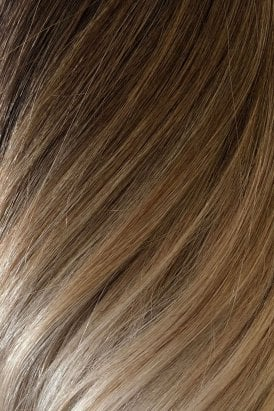 """Vanilla Frappe Ombre - Volumizer 20"""" Seamless Clip In Human Hair Extensions 50g"""